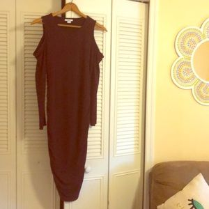 Cold shoulder long sleeve dress